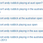 Searching for … The Changeover? Australian Open Edition
