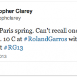 Liveblogging Day One of Roland Garros